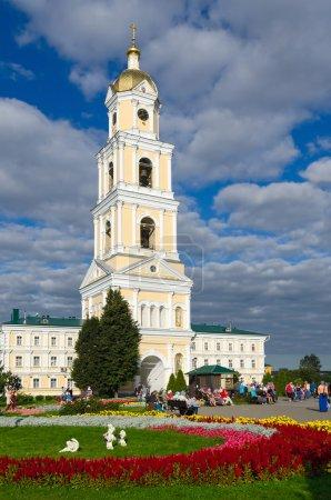 Belfry on territory of Holy Trinity Seraphim-Diveevo monastery in village Diveevo, Nizhny Novgorod region, Russia