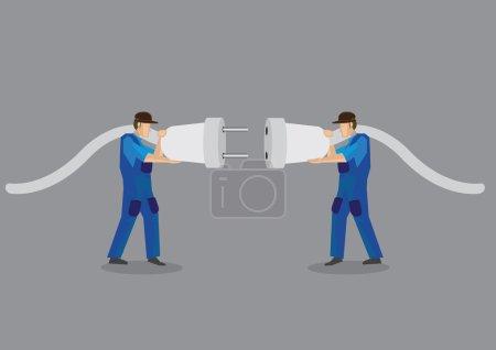 Connecting Male Plug to Female Jacks