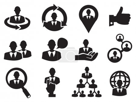 Business Man Icon Set for Human Resource