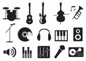 Vector illustration of music related icon set