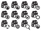 Vector illustration of house icon for real estate and property industry