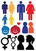 Silhouette of Man and woman relationship symbol