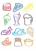 Food drawn illustration