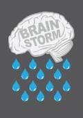 Brainstorm Metaphor Vector Illustration