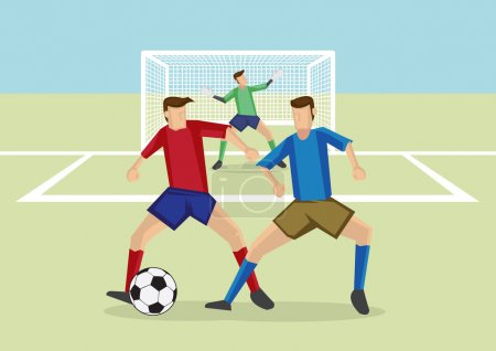 Soccer Sports Man-to-Man Defense