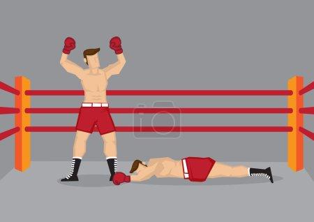 Winner Boxer in Boxing Ring