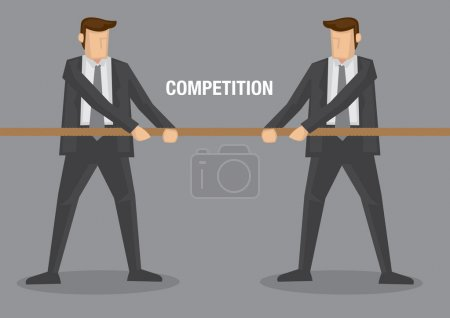 Tug of War Business Concept Vector Illustration