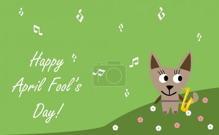 Illustration for Happy april fool's day - Royalty Free Image