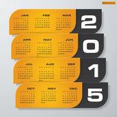 Jednoduché upravitelné vektorové kalendář do roku 2015