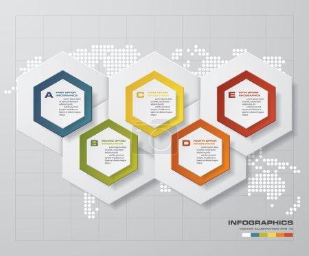 Шаблон 5 шагов для бизнес-презентации с текстовыми областями .