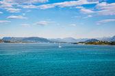 beautiful fjord in Norway near Alesund