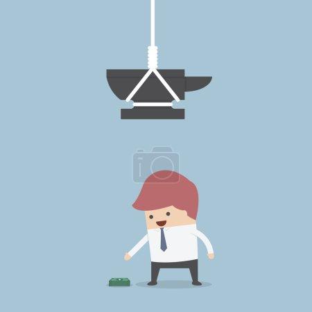 Illustration pour Homme d'affaires et de l'argent piège, Vector, Eps10 - image libre de droit
