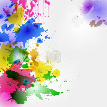 Illustration pour Taches et gouttes colorées d'aquarelle, fond, fond, conception ou empaquetage, taches colorées, eps10 - image libre de droit