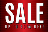 Red Sale poster to use for prints banners flayers leaflets adverts vouchers price tags coupons