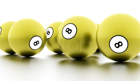 Eight Ball on a plain white background