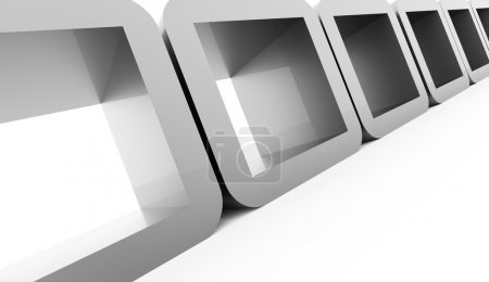 Photo for Silver abstract geometric cubes concept rendered - Royalty Free Image