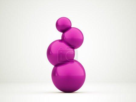Concepto esfera abstracta rosa