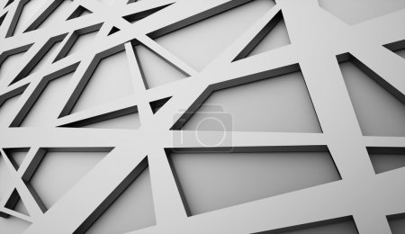 Photo for Black and white chaos mesh background - Royalty Free Image