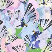 Butterflies and flowers seamless pattern