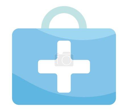 Illustration pour Boîte de premiers soins sur fond blanc - image libre de droit