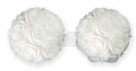 Rose Shaped Candle With Clipping Path