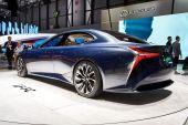 Geneva, Switzerland - March 1, 2016: 2016 Lexus LF-FC Concept presented on the 86th Geneva Motor Show in the PalExpo