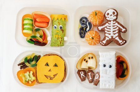 Photo for Lunch box for children in the form of monsters for Halloween. the toning. selective focus - Royalty Free Image