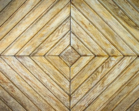 Photo for Background or texture of light  parquet with geometric pattern - Royalty Free Image