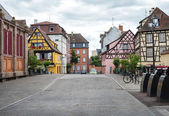 Colorful timbered traditional french houses