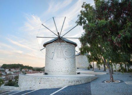 Traditional windmills in Alacati,