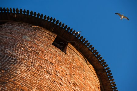 Anceint brick Kremlin tower