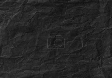 Photo pour Noir froissé la texture du papier. Arrière-plan, de surface et de fond d'écran - image libre de droit