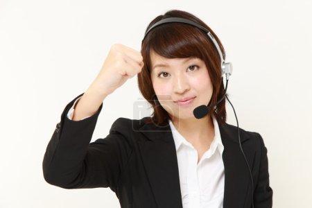 Photo pour Concept shot de femme d'affaires japonaise - image libre de droit
