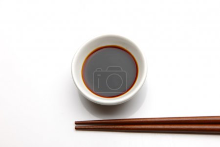 Photo for Soy sauce is a typical Japanese seasoning - Royalty Free Image