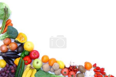 Foto de Disparo de estudio de frutas y verduras frescas - Imagen libre de derechos