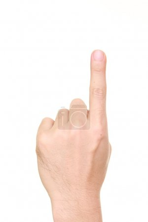 Photo for Close up shot of a pointing finger - Royalty Free Image