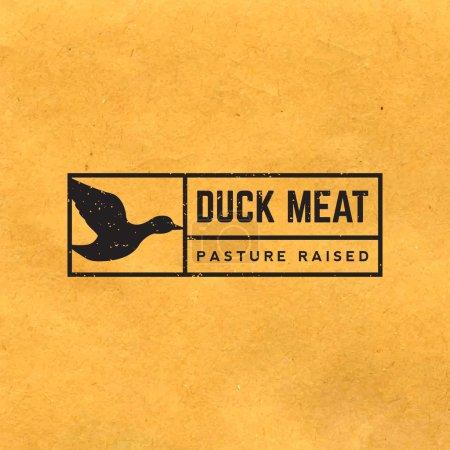Premium duck meat label