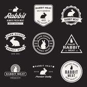 set of premium rabbit meat labels