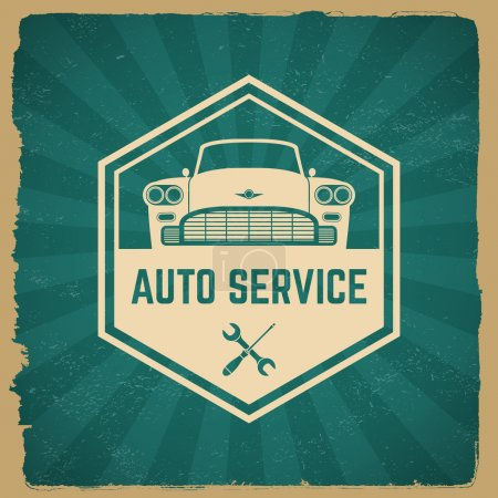 Car repair service label