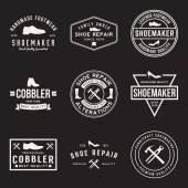 set of shoemaker and shoe repair labels