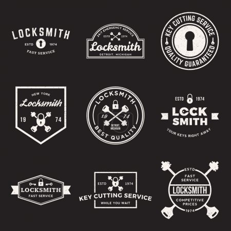 set of locksmith labels
