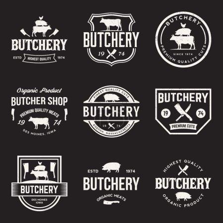 Premium beef label with grunge  background