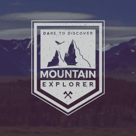 mountain exploration emblem