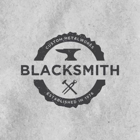 Blacksmith emblem with grunge texture
