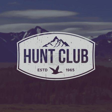 Vector hunting club emblem