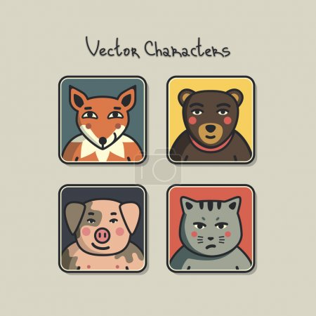 avatars with faces of animals