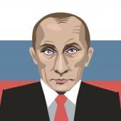 vector portrait of President Vladimir Putin