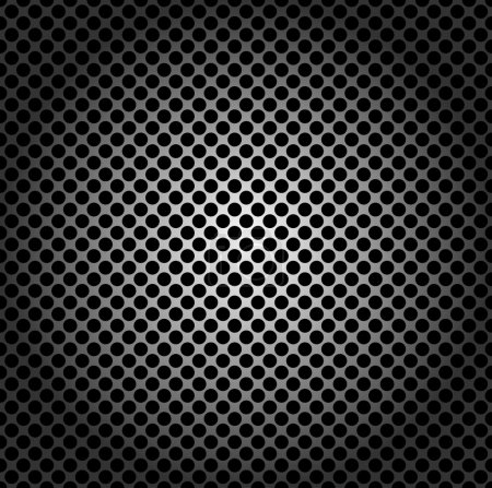 Illustration for Seamless pattern, metal grid with round holes - Royalty Free Image
