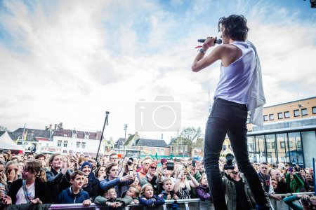 Photo for Jett Rebel performing at Bevrijdingsfestival - Royalty Free Image