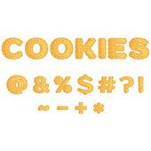 Symbols  made of  cookies in flat design vector